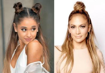 ariana-grande-jennifer-lopez-half-up-bun-looks-verano-dubal-cosmetics